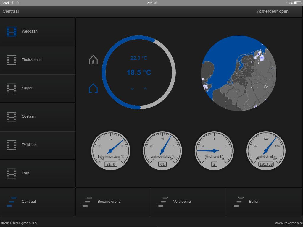 KNX visualisering tablet centraal