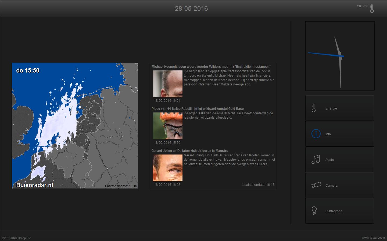 KNX visualisering touchscreen info